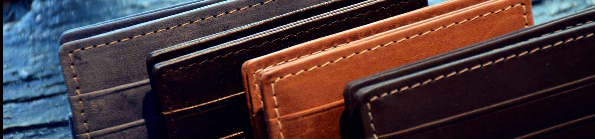 Garzini leather wallets and phone cases